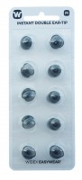 Widex Instant Double Ear-Tip Doppeldome (10 Stück) für S-/M- oder P-Hörer
