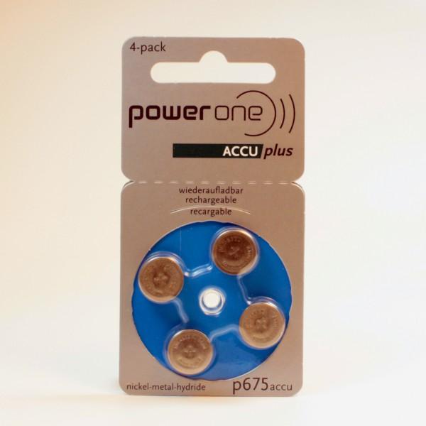 Powerone p675 ACCUplus Hörgeräte Akku