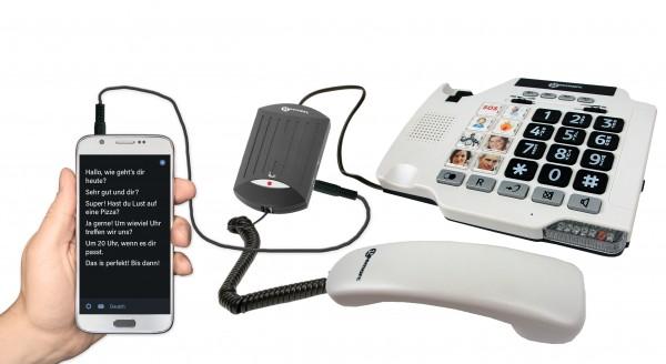 Sprache zu Text Konverter für schnurgebundene Telefone geemarc V2T-10