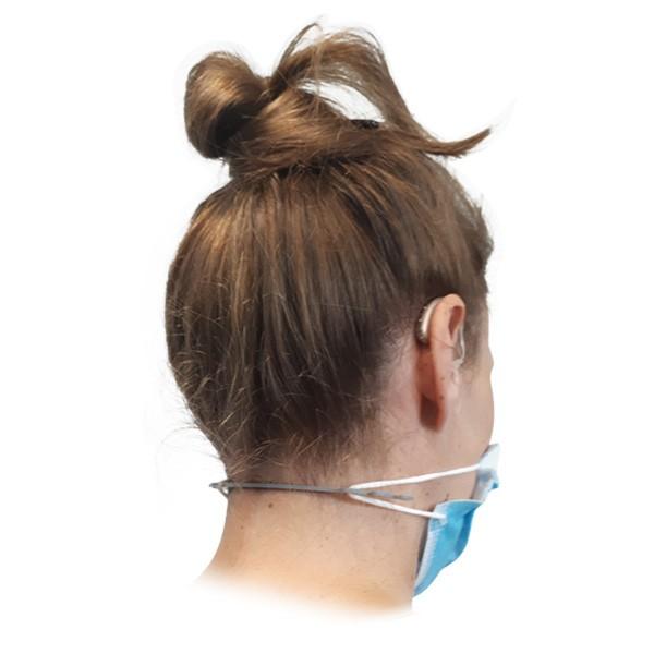 Maskenhalter zum Schutz der Hörgeräte