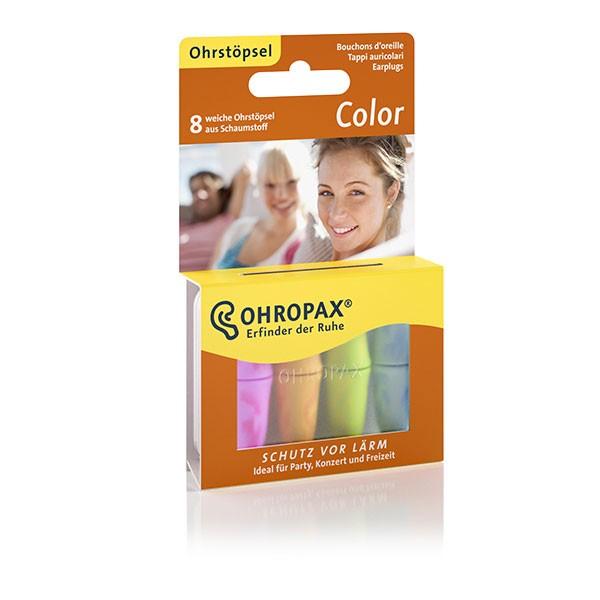 OHROPAX® Color Bunte Ohrstöpsel aus Schaumstoff, 8 Stück
