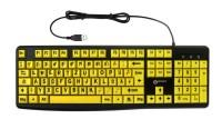 Großschrift-Tastatur Geemarc Gelb