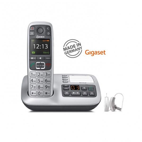 PHONE-DEX 2 - Gigaset W570A Festnetztelefon für WIDEX Hörgeräte mit integriertem Anrufbeantworter