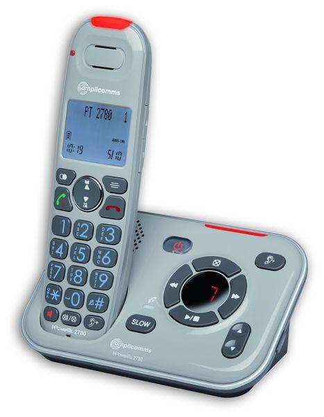 Amplicomms PowerTEL 2780 Schnurlostelefon mit Anrufbeantworter extra laut