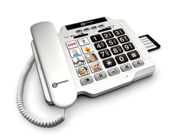 Senioren-Telefon Geemarc PhotoPhone 100 weiß