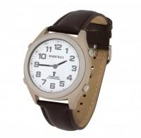 Sprechende Funk-Armbanduhr Lederarmband White von MARSCHALL