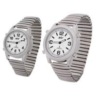 Sprechende Funk-Armbanduhr Metall-Zugarmband silber von MARSCHALL