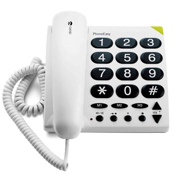 Doro PhoneEasy 311c Weiß | Großtastentelefon