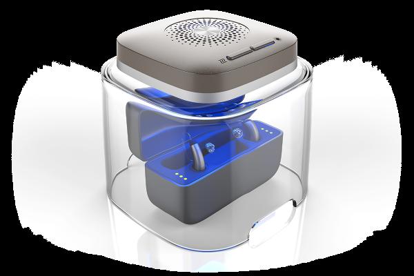 FlowMed DRY-CAP UV 2® Trockenbox für aufladbare Hörgeräte