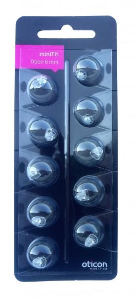 Oticon miniFit open 6 mm Schirmchen passend für Oticon miniFit Ex-Hörer
