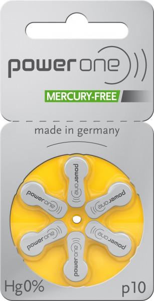 Powerone p10 Mercury Free Hörgerätebatterien