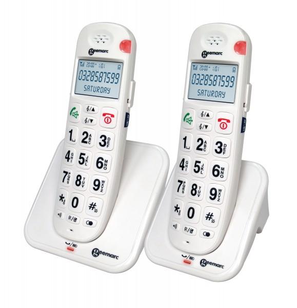 Schwerhörigen-Telefon Geemarc AmpliDECT 260 DUO mit Sprachansage