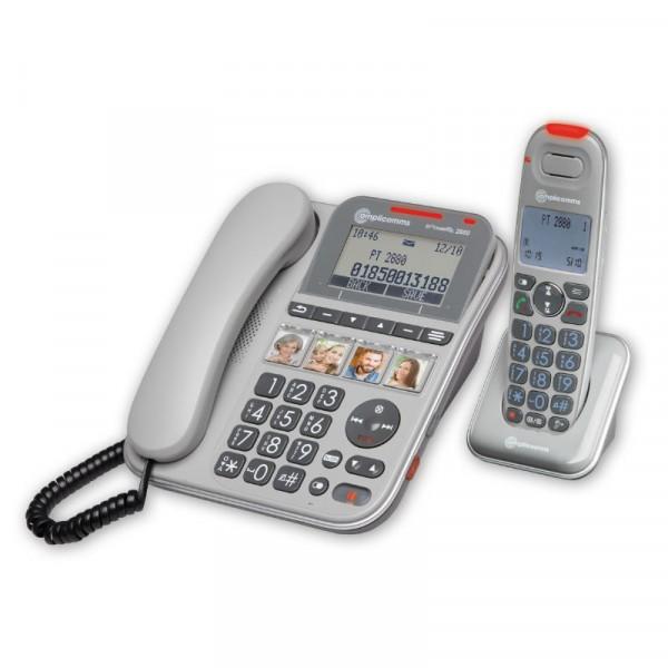 Amplicomms PowerTEL 2880 Schwerhörigentelefon mit Anrufbeantworter