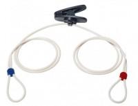 Gummikordel-Set inkl. Kragen-Clip mit schwarzer Kordelbefestigung