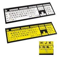 Hochwertige Großschrift-Tastatur Logickeyboard Nero Slim Line