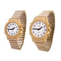 Sprechende Armbanduhr White Edition Gold-Metall von MARSCHALL